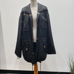 Chanel Vintage Oversized Coat Leather Quilt L